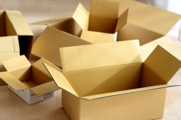cajas de cartón vacías