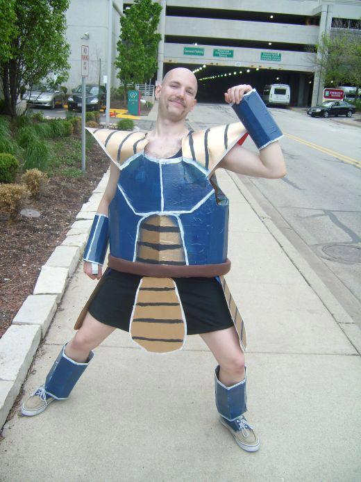 Cosplay fail de nappa personaje de dragon ball z