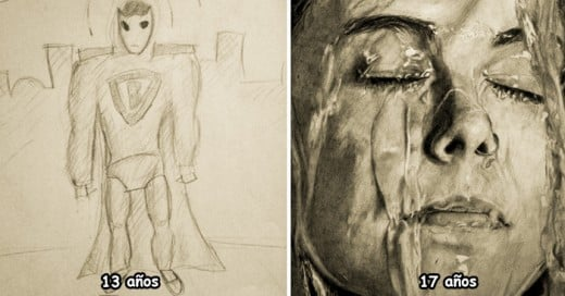 15 Before And After Drawings Show Practice Makes Perfect
