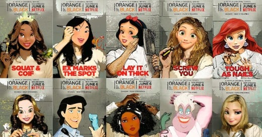 Disney Princesses Put Behind Bars in Orange Is the New Black Art