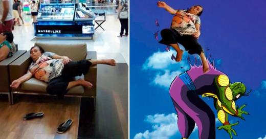 Los 24 memes más nuevos de la señora dormida en Plaza Universidad