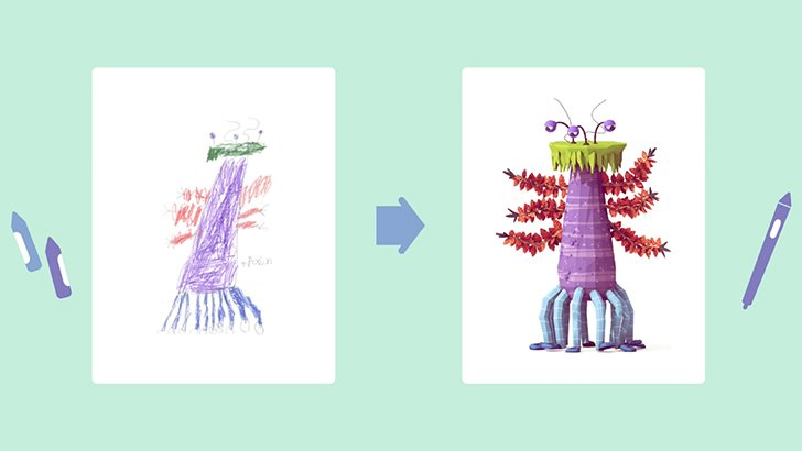 El Proyecto Monster recrea dibujos infantiles de monstruos