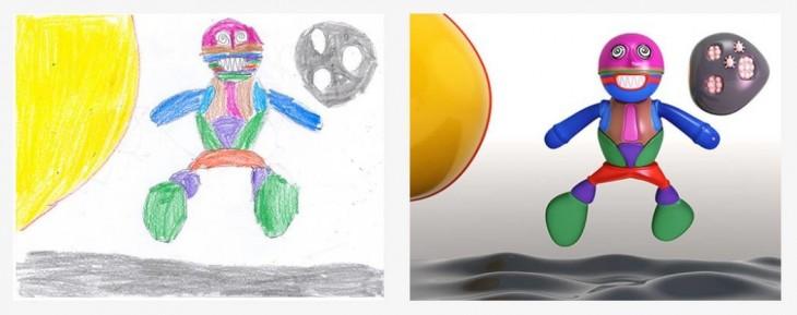 antes y después de un monstruo recreado por el proyecto Monster