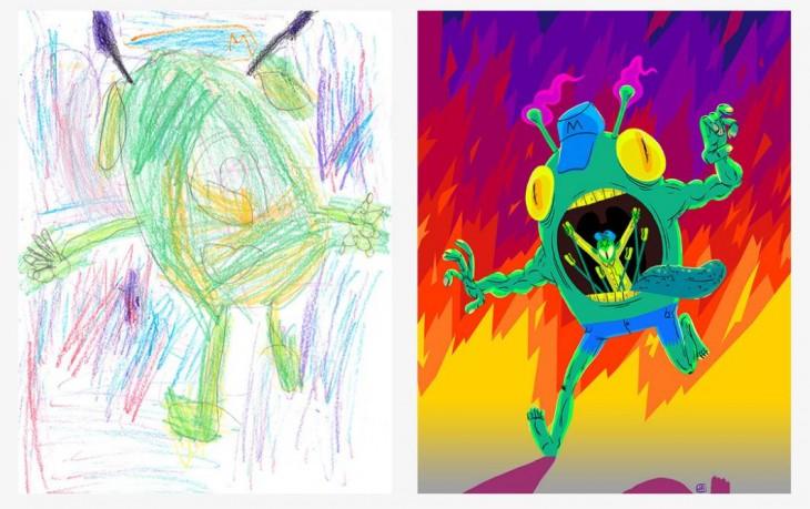 Proyecto monster recreo el dibujo de un monstruo