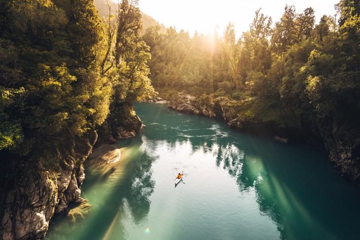 Hokitika Gorge en Westland, Nueva Zelanda