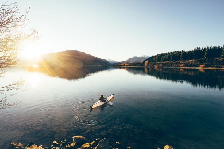 Lago Wanaka en Nueva Zelanda