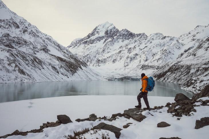 Parque Nacional de Aoraki, Lago Hooker y Monte Cook en Nueva Zelanda