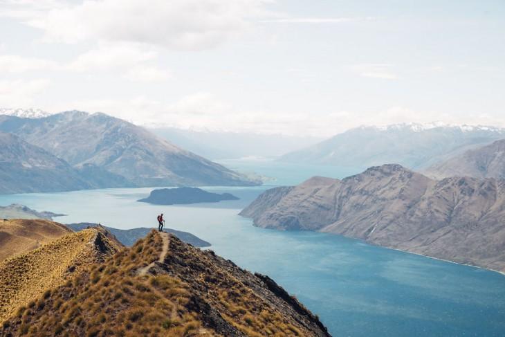 Vista al lago Wanaka, Nueva Zelanda