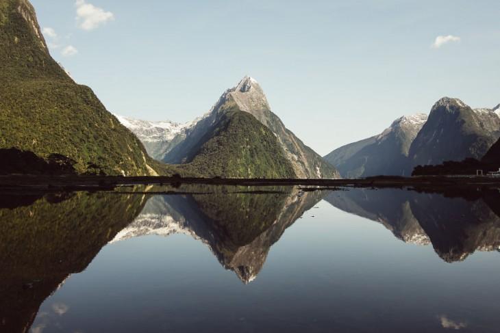 Parque Nacional en Milford Sound, Nueva Zelanda