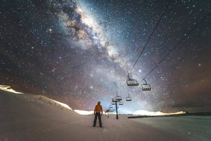 Estación de esquí en Cardrona, Nueva Zelanda