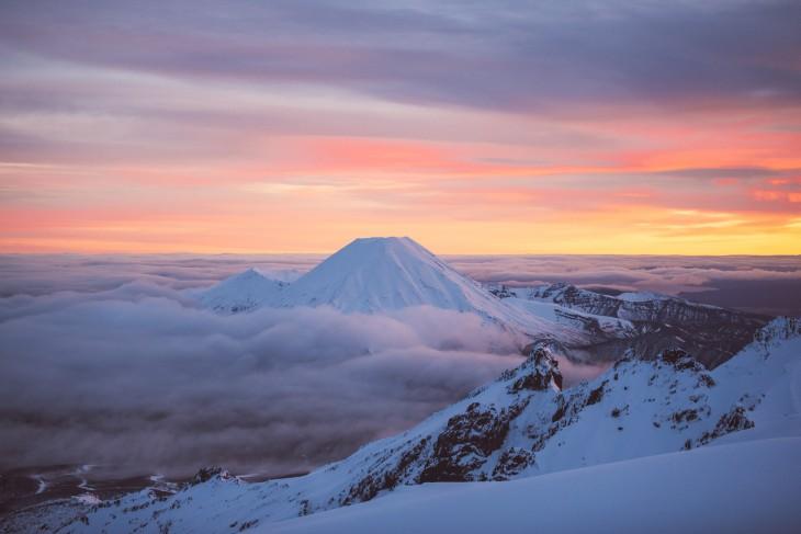 Parque Nacional Tongariro, Monte Ngauruhoe en Nueva Zelanda