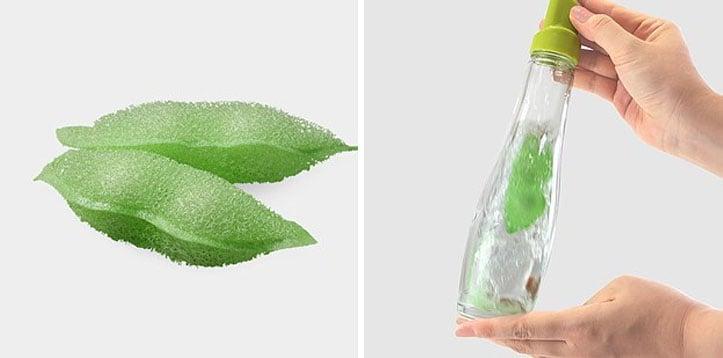 esponjas para limpiar botellas en forma de chicharitos