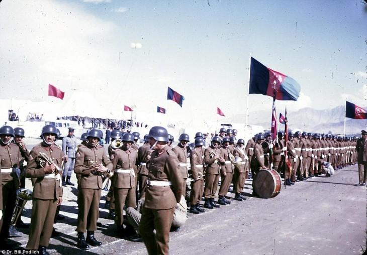 Soldados del ejército de Afganistán en 1960