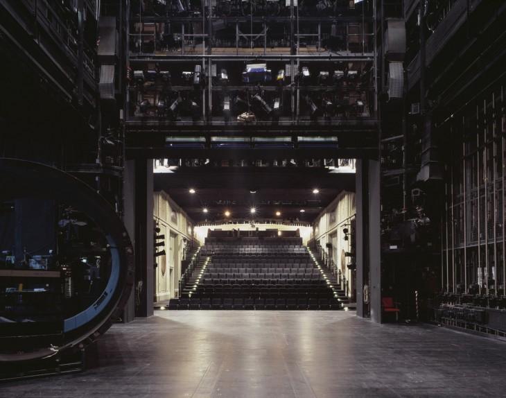 teatro asientos negros