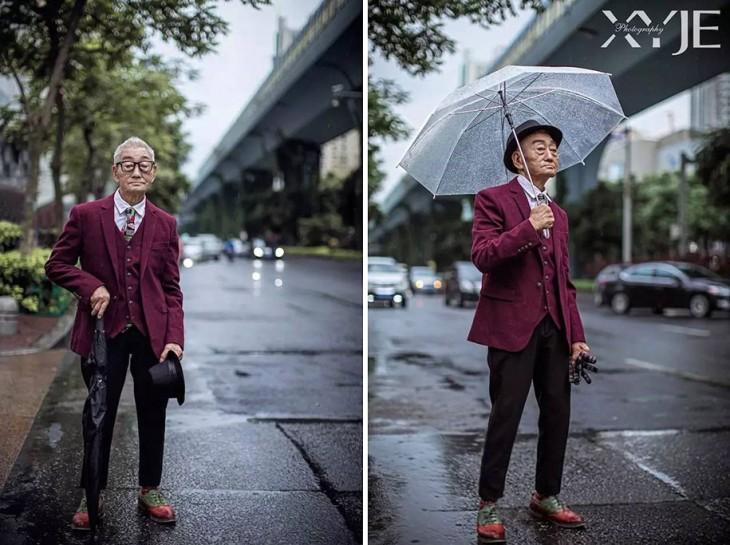 Granjero de 85 años se vuelve icono de la moda en China y es viral en Weibo