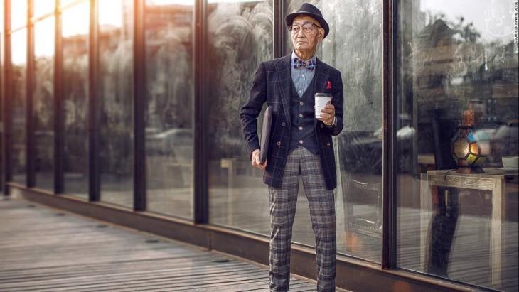 Ding Guoliang, hombre chino que se volvió viral por su estilo hipster