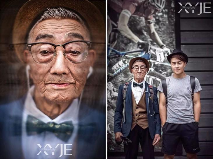 Fotógrafo que convirtió a su abuelo en todo un icono de la moda Hipster en China