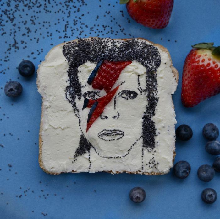 homenaje en el desayuno a David Bowie