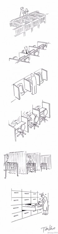 ilustración que muestra el proceso de la vida de una persona