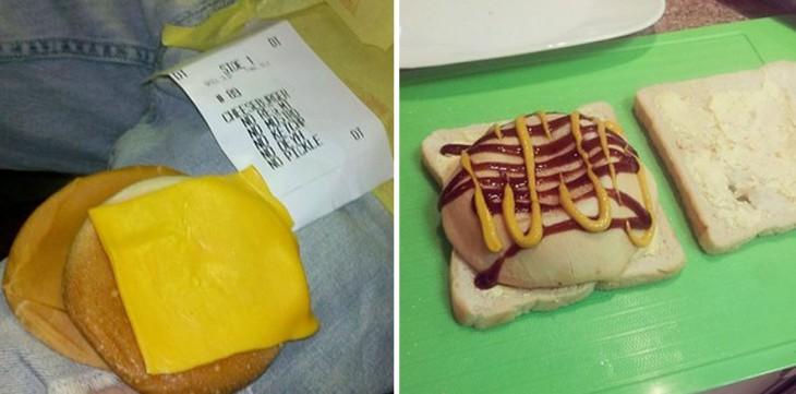 imágenes de un pan de hamburguesa con queso amarillo encima