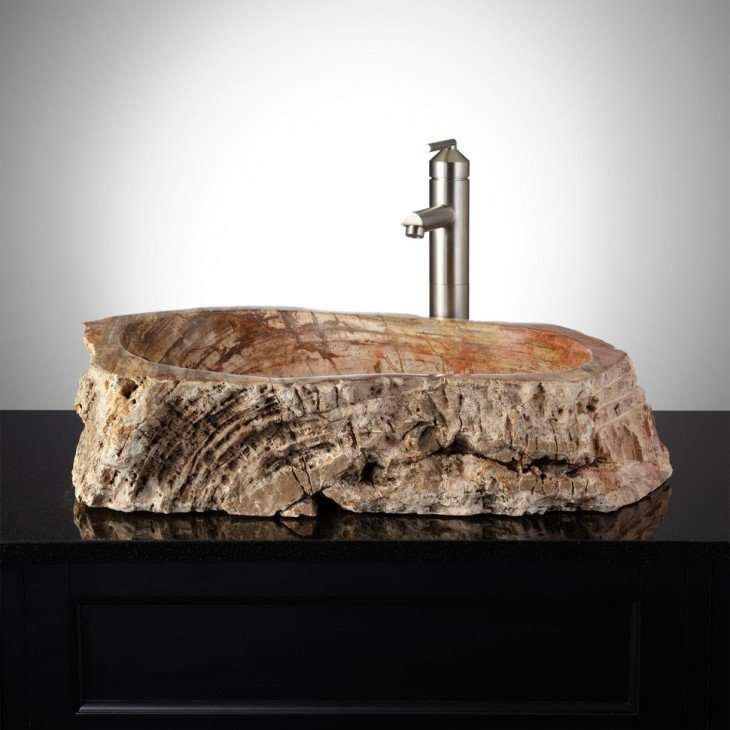 Incre bles y novedosos dise os en lavabos para ba o o cocina for Lavamanos rusticos de madera