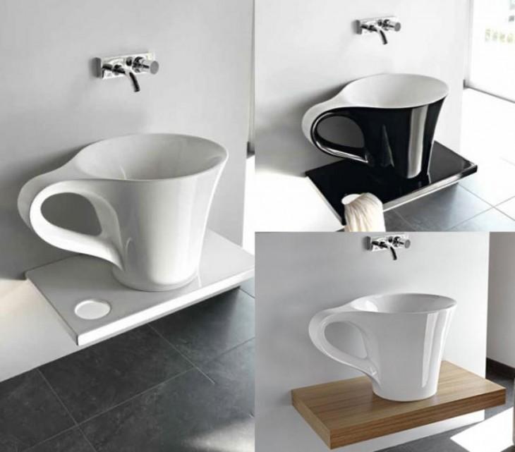 lavabo en forma de taza de café