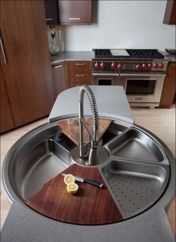 Incre bles y novedosos dise os en lavabos para ba o o cocina - Lavabo para cocina ...