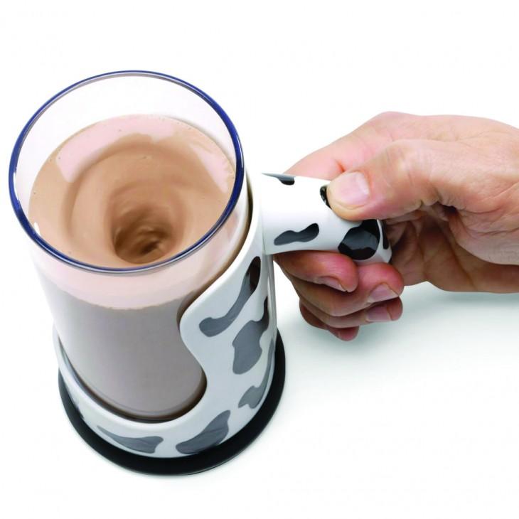 vaso mezclador de chocolate