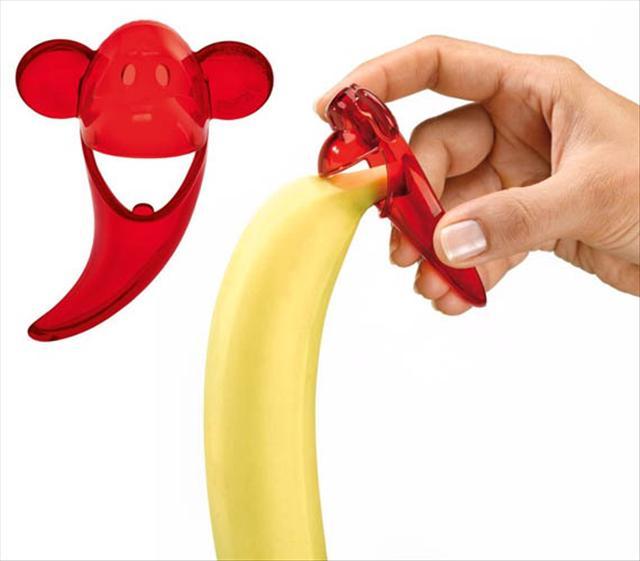 pela plátanos en forma de chango