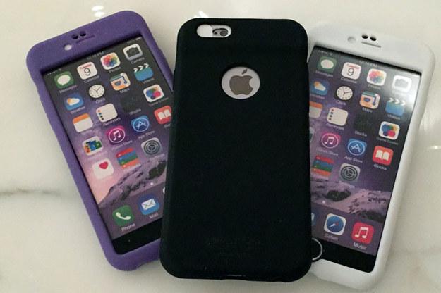 funda para iPhone que limpia la cámara
