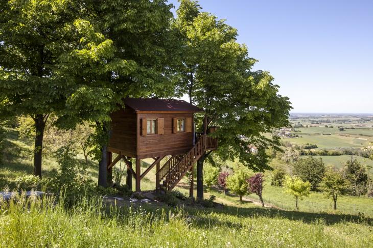 Casa del árbol en San Salvatore Monferrato, Italia