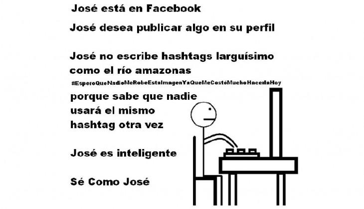 Meme 'Sé inteligente, sé como José' publicando algo en su perfil