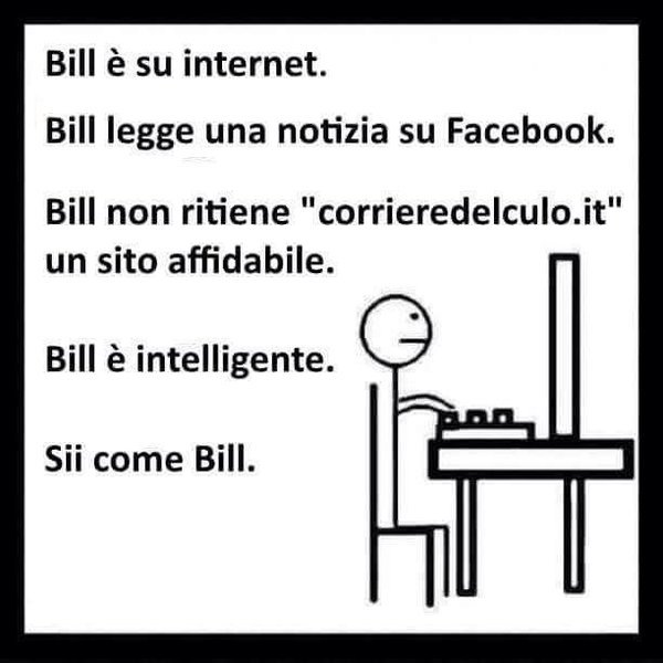 Meme italiano 'Sii come Bill'