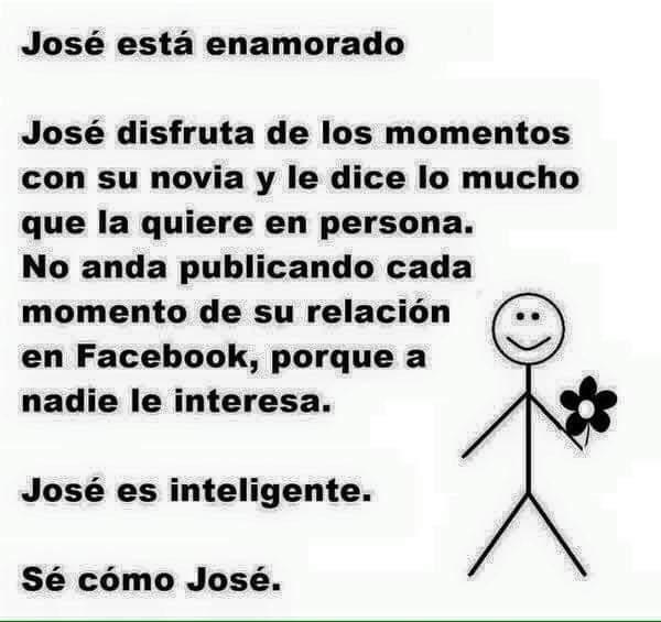 Meme 'Sé inteligente, sé como José' cuando alguien está enamorado