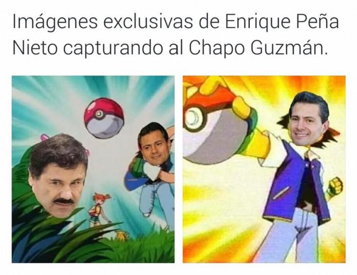 Meme de la recaptura de el chapo con personajes de pokemón