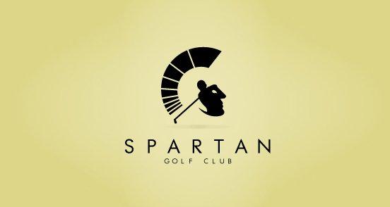 logotipo del club de golf Spartan