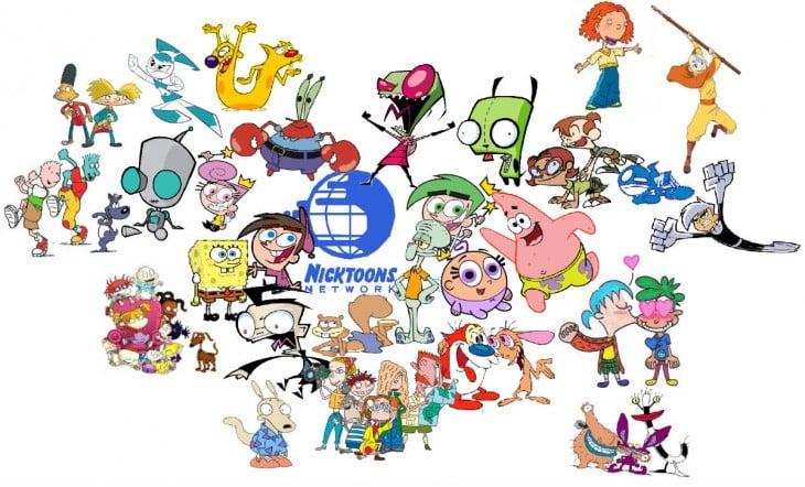 personajes de las caricaturas de Nickelodeon