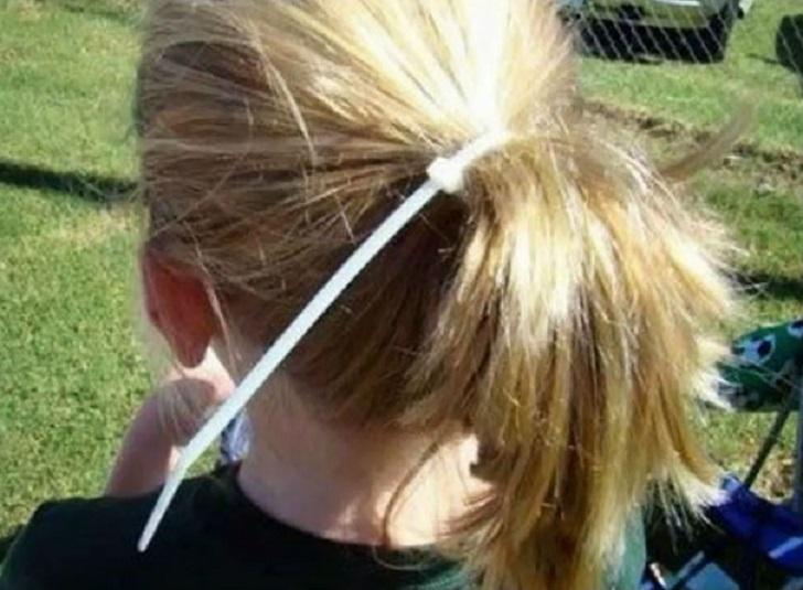 coleta cabello niña