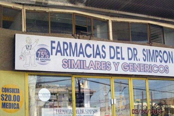 local de las farmacias del Dr. Simpson