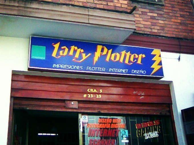 Local de impresiones llamada Larry Plotter