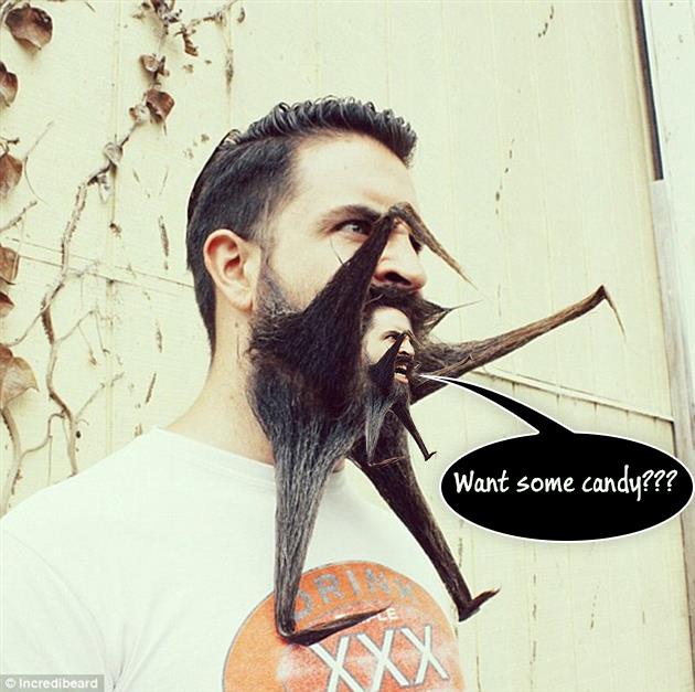barba pidiendo dulces