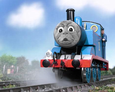 con cara de locomotora