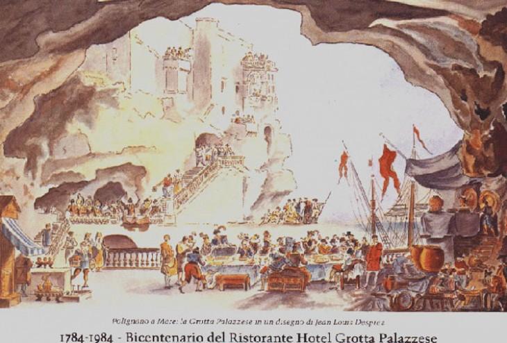restaurante hace 232 años dibujado por quienes lo adulaban