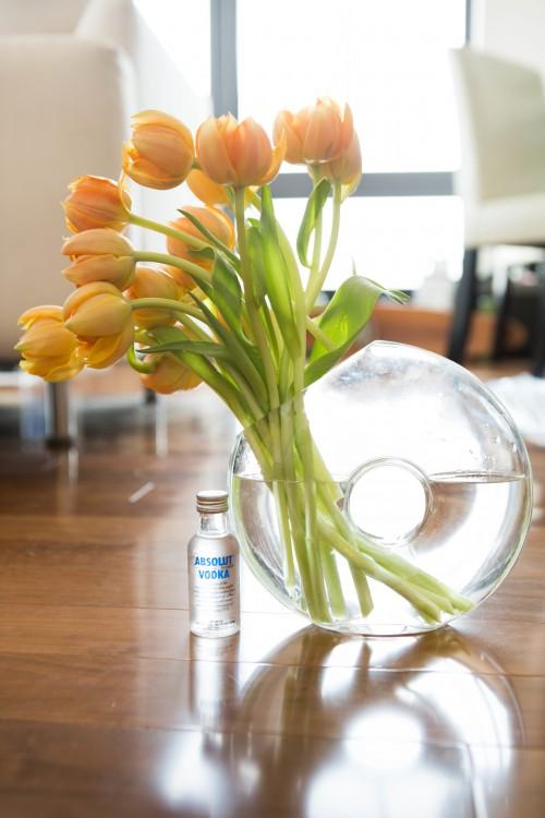 utiliza vodka en las flores para que duren más tiempo frescas