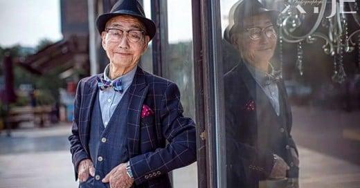 campesino de 85 años se convierte en un icono de la moda en china