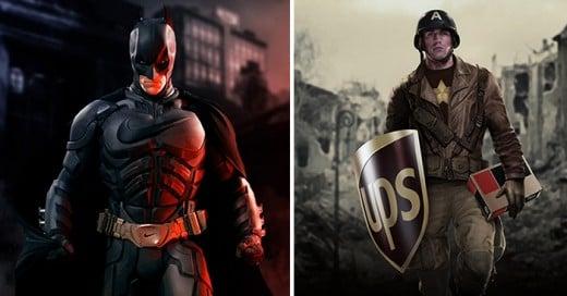 Diseñador Italiano publico ilustraciones de como serian los superhéroes si los patrocinaran las marcas mas famosas