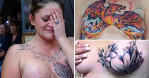 fotografías de mujeres que decidieron convertir sus cicatrices de cáncer de mama en increíbles tatuajes