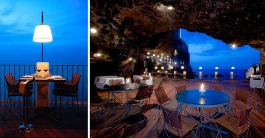 increíble restaurante que se encuentra dentro de una cueva