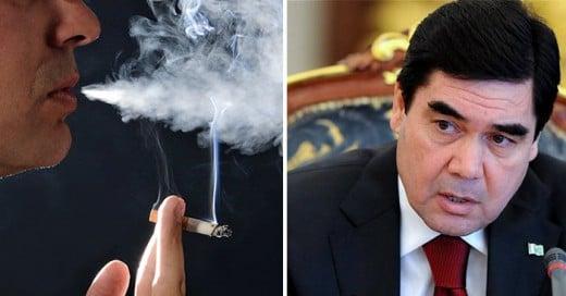 Turkmenistán país en Asia Central que prohibió totalmente el tabaco.