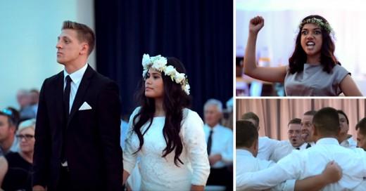 La danza Haka Maorí en boda